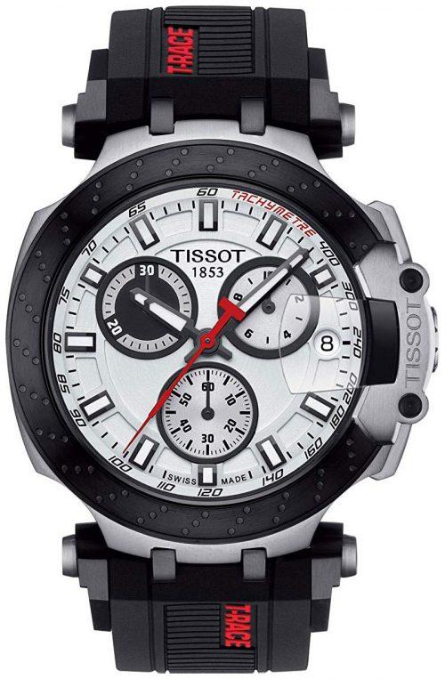 Tissot T-Race Herrklocka T115.417.27.011.00 Vit/Gummi Ø43 mm