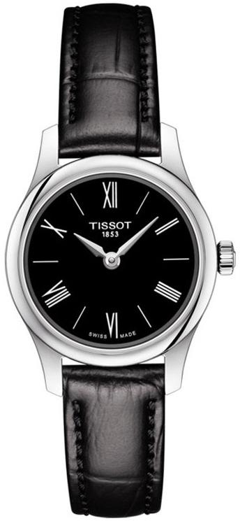 Tissot Tradition Damklocka T063.009.16.058.00 Svart/Läder Ø25 mm