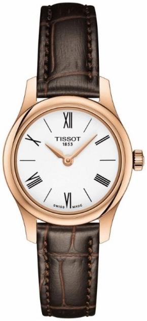Tissot Tradition Damklocka T063.009.36.018.00 Vit/Läder Ø25 mm