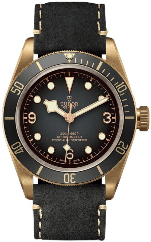 Tudor Black Bay Herrklocka 79250ba-0001 Grå/Läder Ø43 mm