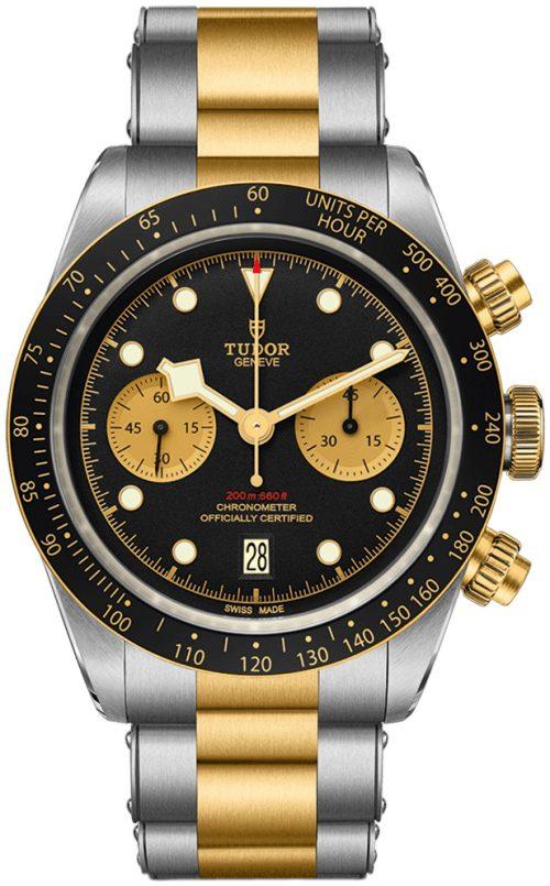 Tudor Black Bay Herrklocka 79363n-0001 Svart/18 karat gult guld Ø41