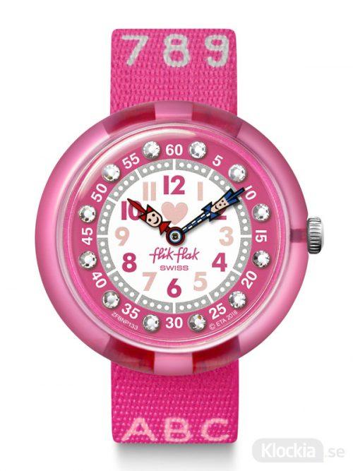 Barnklocka Flik Flak Pink AB34 FBNP133