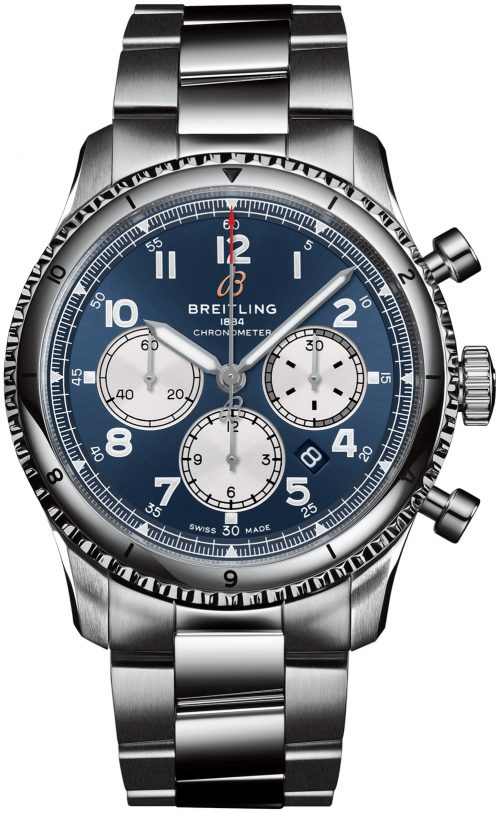 Breitling Aviator 8 B01 Chronograph 43 Herrklocka AB0119131C1A1