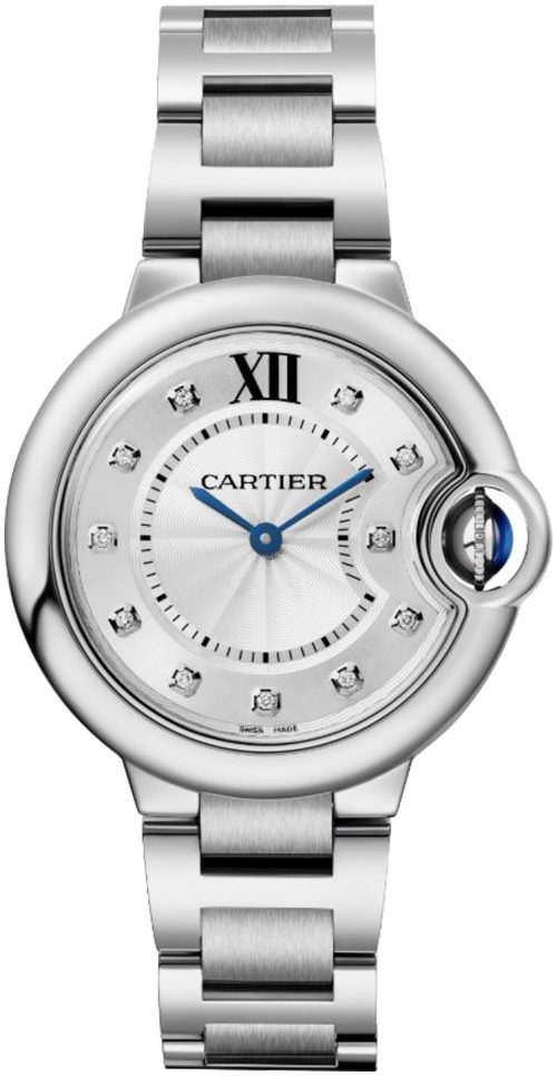 Cartier Ballon Bleu De Cartier Damklocka W4BB0020 Silverfärgad/Stål