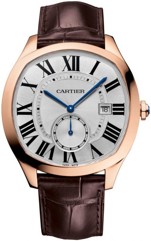 Cartier Drive De Cartier Herrklocka WGNM0016 Silverfärgad/Läder