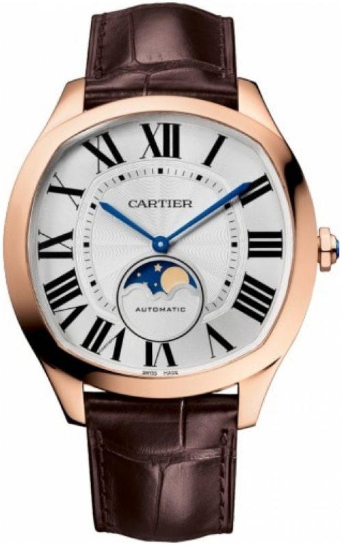 Cartier Drive De Cartier Herrklocka WGNM0018 Silverfärgad/Läder