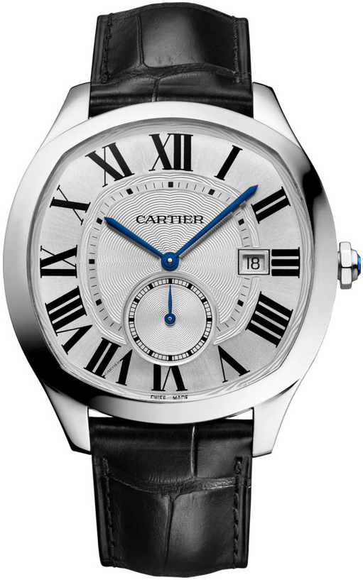 Cartier Drive De Cartier Herrklocka WSNM0015 Silverfärgad/Läder