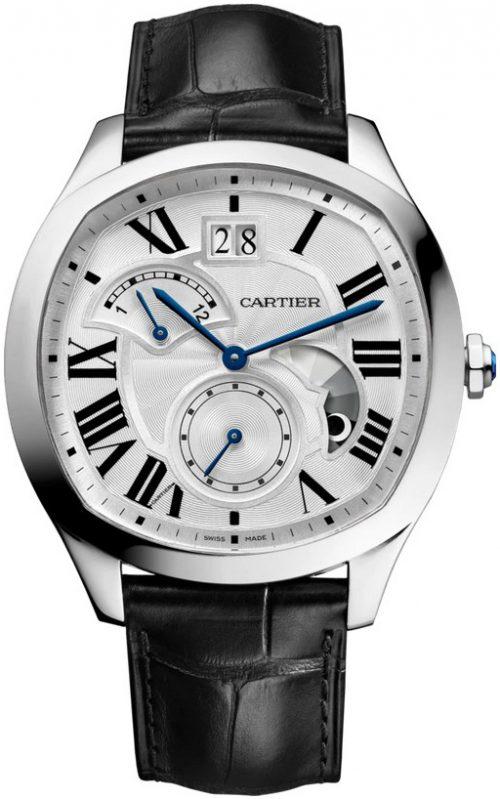 Cartier Drive De Cartier Herrklocka WSNM0016 Silverfärgad/Läder