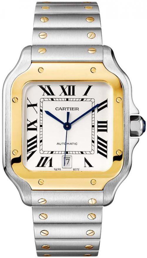 Cartier Santos De Cartier Herrklocka W2SA0009 Silverfärgad/Stål