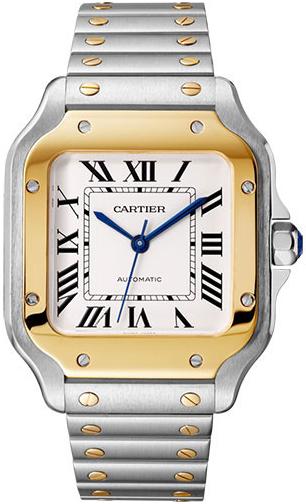 Cartier Santos De Cartier Herrklocka W2SA0016 Silverfärgad/Stål