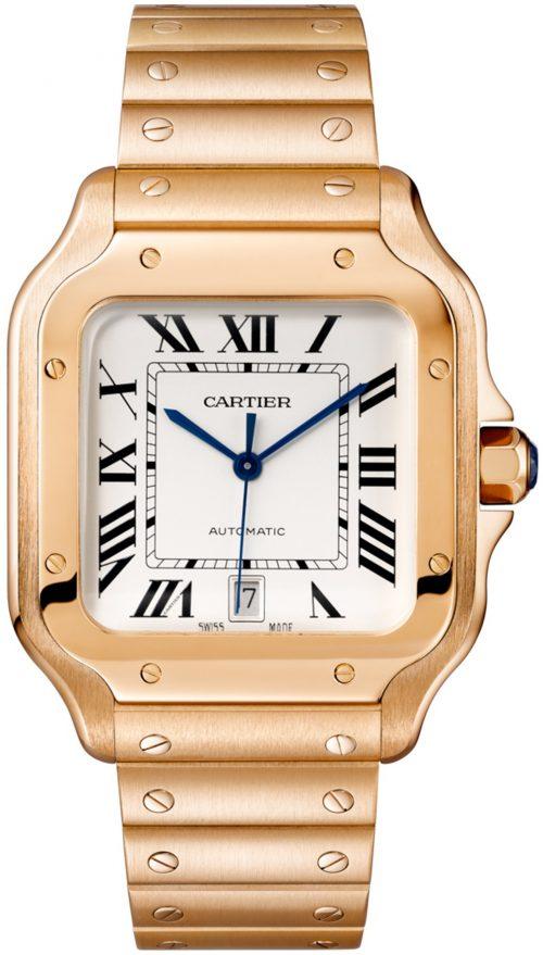 Cartier Santos De Cartier Herrklocka WGSA0018 Silverfärgad/18 karat