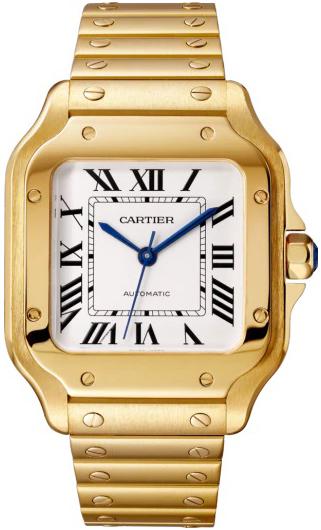 Cartier Santos De Cartier Herrklocka WGSA0030 Silverfärgad/18 karat