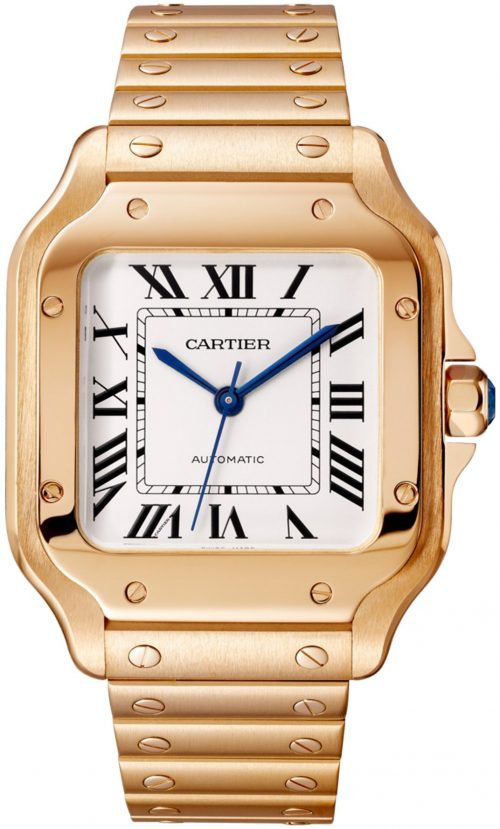 Cartier Santos De Cartier Herrklocka WGSA0031 Silverfärgad/18 karat