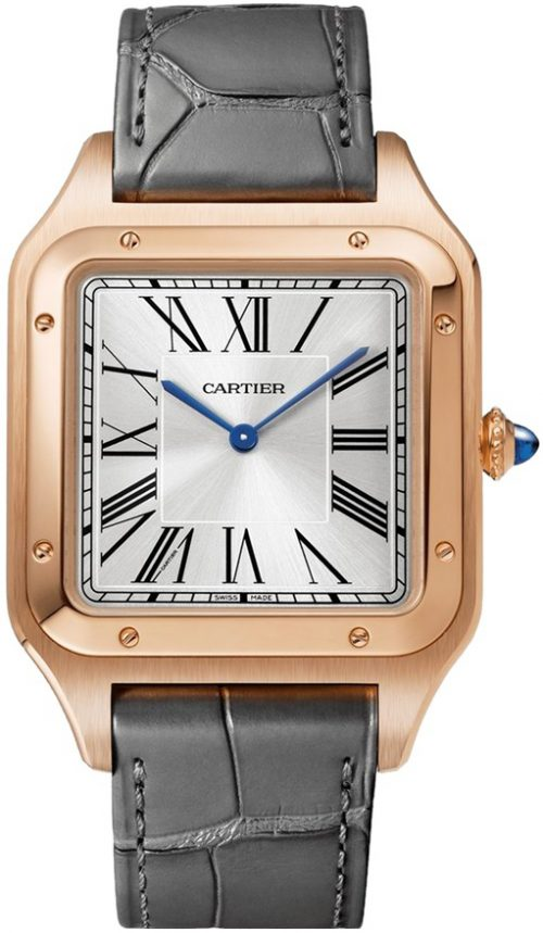 Cartier Santos Dumont Herrklocka WGSA0032 Silverfärgad/Läder