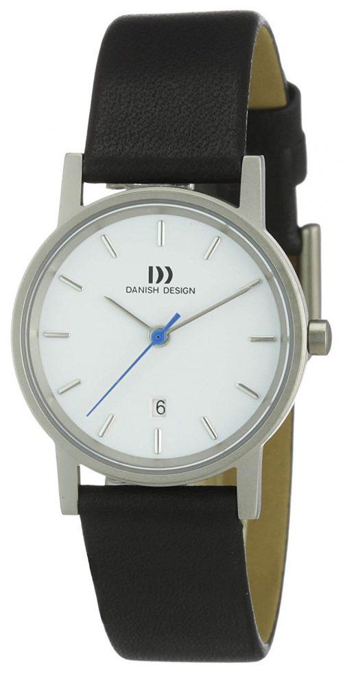 Danish Design Classic Damklocka 3326475 Vit/Läder Ø30 mm