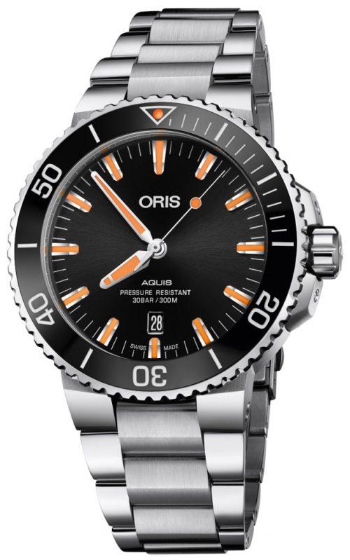 Oris Diving Herrklocka 01 733 7730 4159-07 8 24 05PEB Svart/Stål
