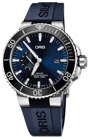 Oris Diving Herrklocka 01 743 7733 4135-07 4 24 65EB Blå/Gummi