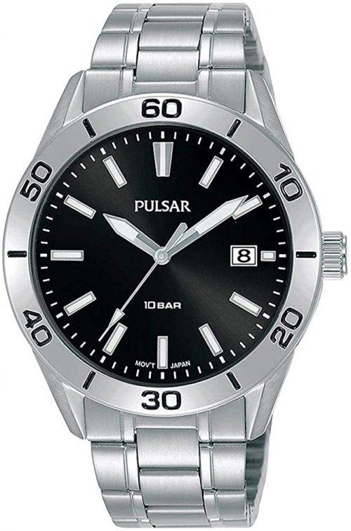 Pulsar Classic Herrklocka PS9647X1 Svart/Stål Ø45 mm