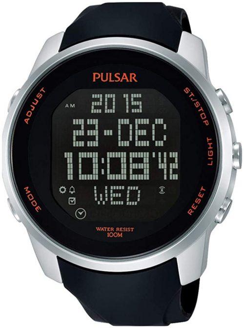 Pulsar Sport Herrklocka PQ2049X1 LCD/Gummi Ø47 mm