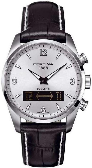 Certina DS Multi-8 Herrklocka C020.419.16.037.00 Silverfärgad/Läder