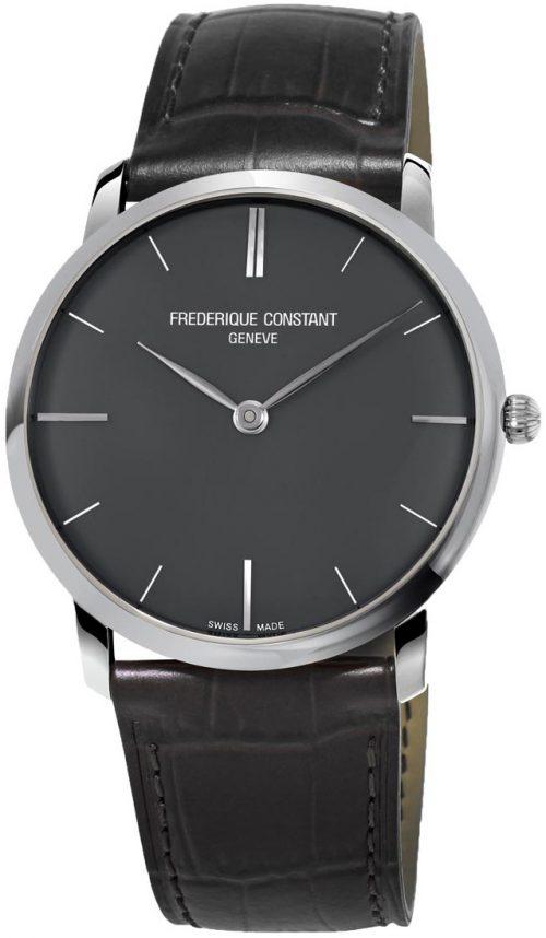 Frederique Constant Slimline Herrklocka FC-200G5S36 Grå/Läder Ø39