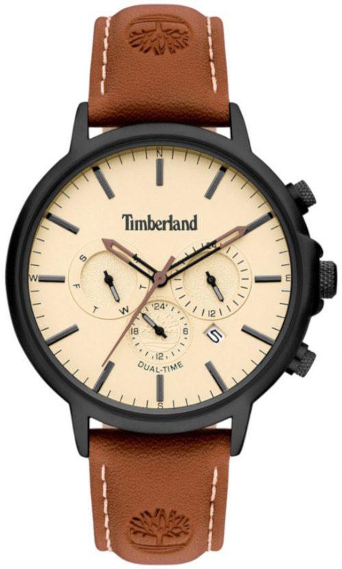 Timberland 99999 Herrklocka TBL15651JYB.01 Beige/Läder Ø45 mm