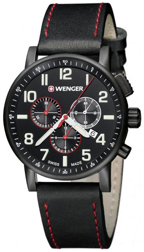 Wenger 99999 Herrklocka 01.0343.104 Svart/Läder Ø43 mm