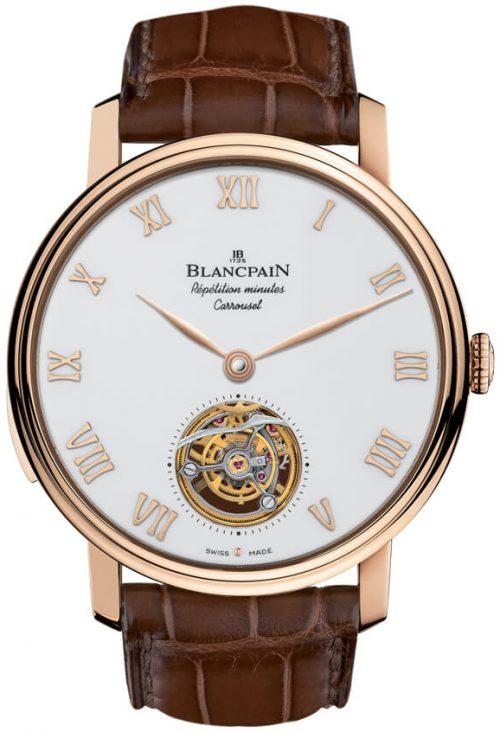 Blancpain Le Brassus Herrklocka 0232-3631-55B Vit/Läder Ø45 mm