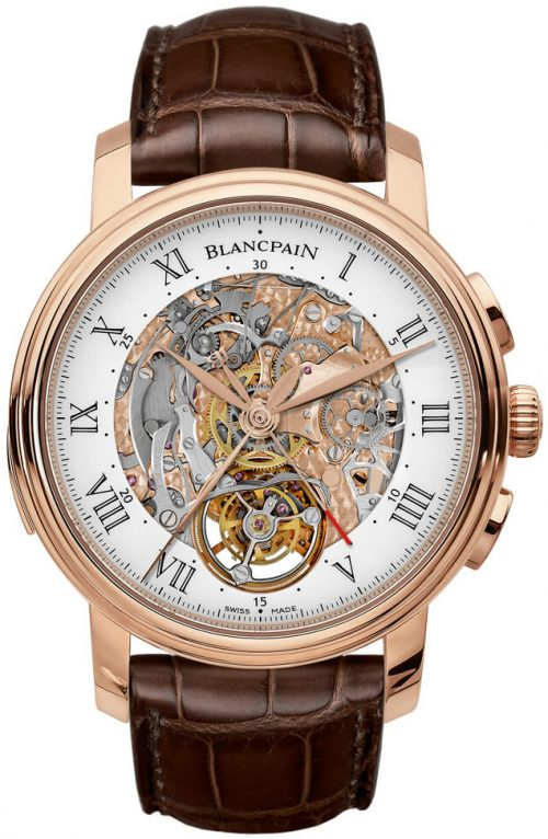 Blancpain Le Brassus Herrklocka 2358-3631-55B Vit/Läder Ø45 mm