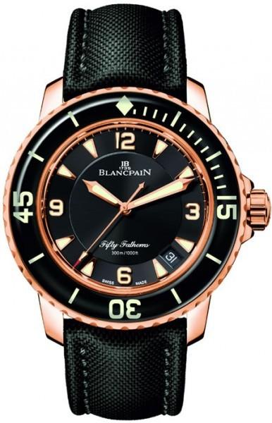 Blancpain Sport Fifty Fathoms Herrklocka 5015-3630-52A Svart/Textil