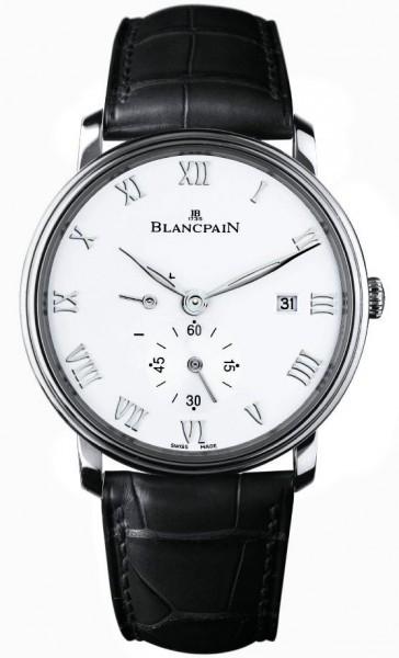 Blancpain Villeret Ultraflach Herrklocka 6606-1127-55B Vit/Läder