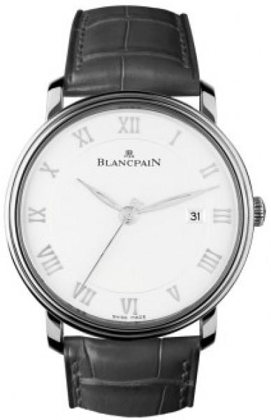 Blancpain Villeret Ultraflach Herrklocka 6651-1127-55B Vit/Läder