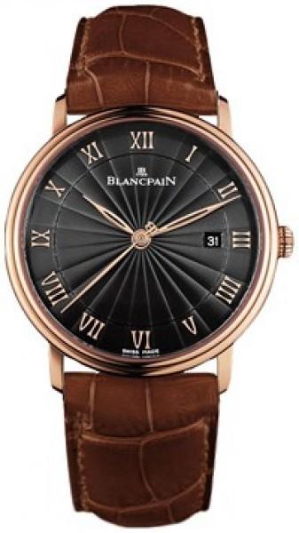 Blancpain Villeret Ultraflach Herrklocka 6651-3630-55B Svart/Läder
