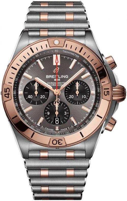 Breitling Chronomat B01 42 Herrklocka UB0134101B1U1 Grå/18 karat