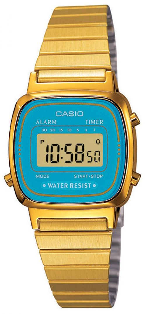 Casio Casio Collection Damklocka LA670WGA LCD/Gulguldtonat stål