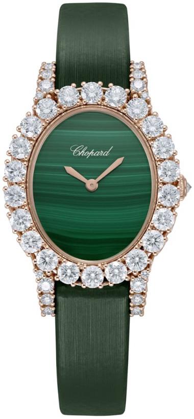 Chopard Diamond Hour Damklocka 139384-5011 Grön/Satin Ø29.4 mm