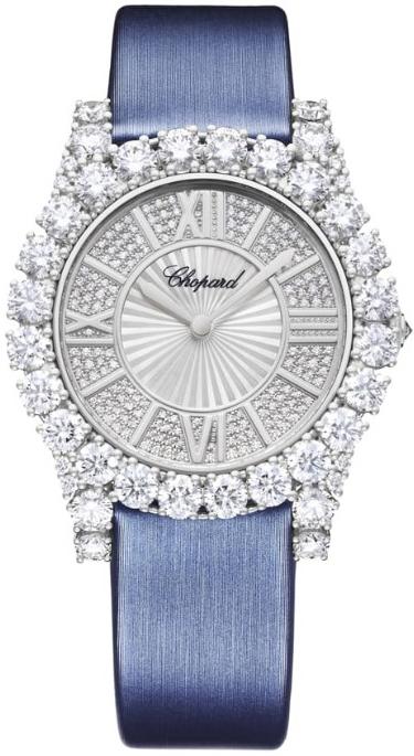 Chopard Diamond Hour Damklocka 139419-1401 Vit/Satin Ø35.75 mm