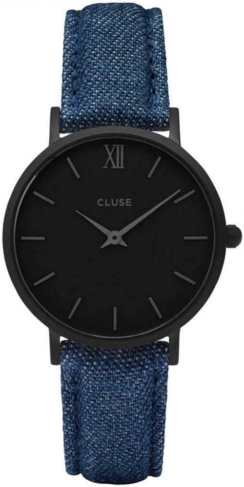 Cluse Minuit Damklocka CL30031 Svart/Läder Ø33 mm