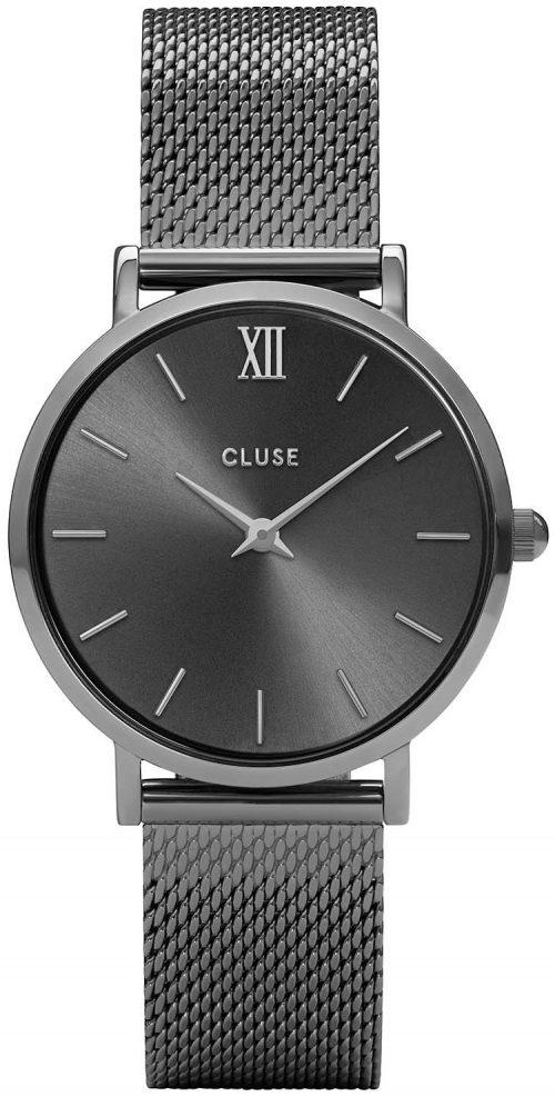 Cluse Minuit Damklocka CL30067 Grå/Stål Ø33 mm