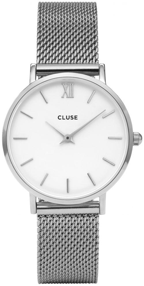 Cluse Minuit Damklocka CW0101203002 Vit/Stål Ø33 mm