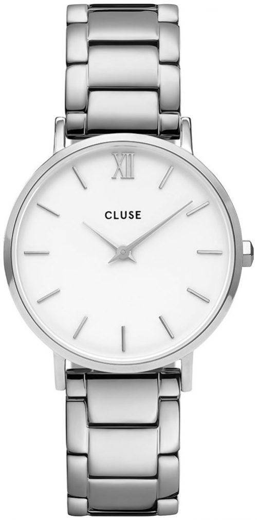 Cluse Minuit Damklocka CW0101203026 Vit/Stål Ø33 mm