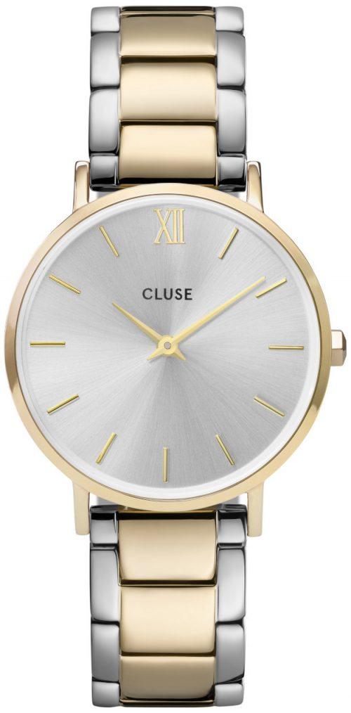 Cluse Minuit Damklocka CW0101203028 Silverfärgad/Gulguldtonat stål