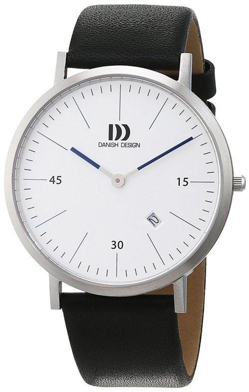 Danish Design Classic Herrklocka 3314542 Vit/Läder Ø40 mm