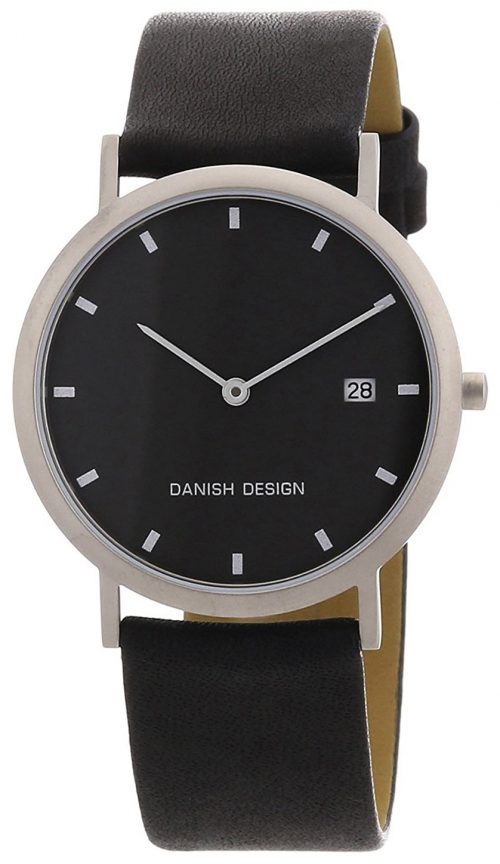 Danish Design Classic Herrklocka 3316110 Svart/Läder Ø37 mm