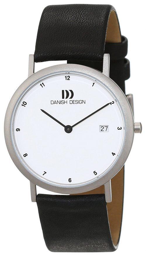 Danish Design Classic Herrklocka 3316140 Vit/Läder Ø35 mm