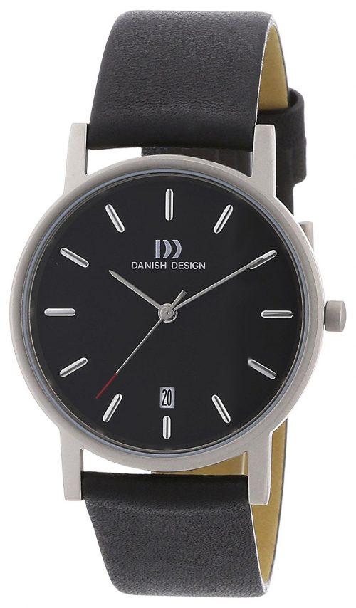 Danish Design Classic Herrklocka 3316261 Svart/Läder Ø36 mm