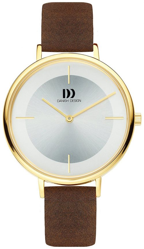 Danish Design Dress Damklocka IV15Q1185 Silverfärgad/Läder Ø36 mm