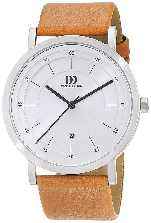 Danish Design Dress Herrklocka 3314529 Silverfärgad/Läder Ø42 mm