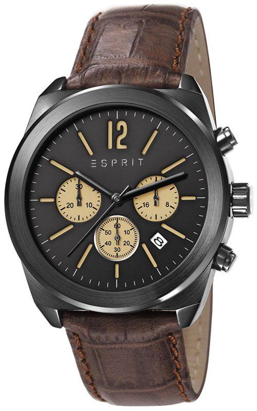 Esprit Sport Herrklocka ES107571003 Svart/Läder Ø41 mm