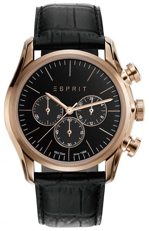 Esprit Sport Herrklocka ES108801001 Svart/Läder Ø44 mm